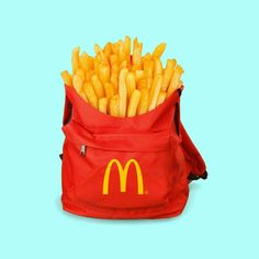 #surrealism #frenchfries #backpack