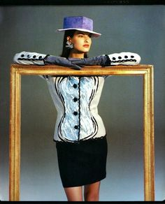 Linda Evangelista for YSL Couture