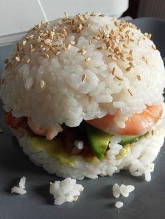 Burger façon sushi