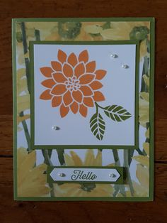 Flourishing Phrases and Delightful Daisy DSP! Cardmaking, Stampin Up, Daisy, Paper Crafts, Space, Creative, Cards, Home Decor, Foil Stamping