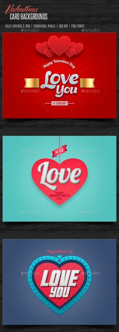 Valentines Day Cards Backgrounds