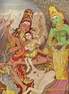 Shiva, Parvati and Skanda