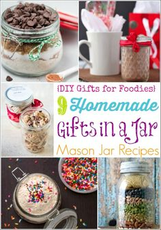 Mason Jar Recipes are the perfect fun, easy gift! Everyone loves homemade gifts in a jar! Layered soup mixes, hot chocolate, cookie and cake mixes ... and more! ~ from Two Healthy Kitchens at www.TwoHealthyKitchens.com