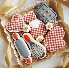 Ideas For Baking Desserts Creative Fun Christmas Cookies Mother's Day Cookies, Summer Cookies, Fancy Cookies, Iced Cookies, No Bake Cookies, Cupcake Cookies, Cookies Et Biscuits, Fondant Cupcakes, Baking Cupcakes