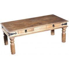 Table basse coloris naturel rectangulaire en bois TOBEA