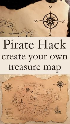 Silhouette Design memorytreasure mapFallen Treasure Map / Pirate Treasure Map Decor / Pirate Map / Treasure Map Create your own treasure map! How to make old or antique looking paper .Create your own treasure Treasure Hunt Map, Treasure Maps For Kids, Pirate Treasure Maps, Pirate Maps, Pirate Theme, Treasure Island, Pirate Party, Treasure Map Drawing, Pirate Scavenger Hunts