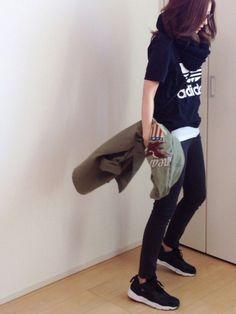 mayumiさんのミリタリージャケット「Ungrid 【Casual】AVIREX刺繍ミリタリーSH」を使ったコーディネート