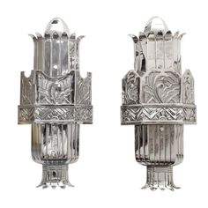 A Pair of 1920's  Art Deco Sconces by Walter Kantack