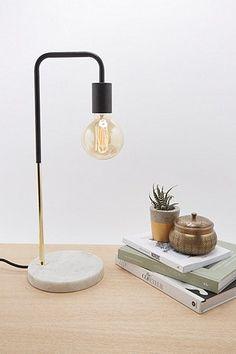 Lampe de table Dalston marbrée