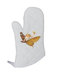 Girl On A Butterfly Vintage Look Kitchen Bar Oven Mitt St...