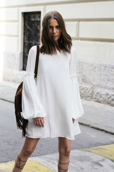 Summer Style -White Mini Dress