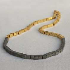 More concrete :) Grommet Necklace Gold Plate now featured on Fab.