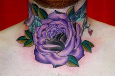 Traditional Purple Rose Tattoo by Eva Huber by Eva Huber Tattoo, via Flickr