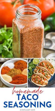 This Homemade Taco Seasoning comes together fast with measurements for one pound of meat or for a whole container to keep in your pantry! Make it extra spicy or keep it mild. We use this recipe weekly! Cat Recipes, Mexican Food Recipes, Dessert Recipes, Diy Taco Seasoning, Homemade Seasonings, Vegetarian Cooking, Taco Tuesday, Food Hacks, Fork