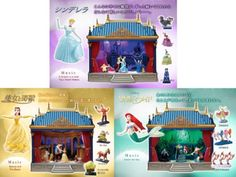 Deagostini-Japan-Disney-Dream-Theater-Set-Cinderella-Little-Mermaid-Music-amp-Light