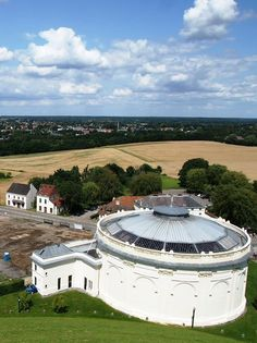 The Waterloo Battle Panorama building, seen from the Lion's Mound, Belgium. Waterloo Belgium, Waterloo 1815, Battle Of Waterloo, Round Building, Visit Belgium, Prince, Ardennes, Napoleonic Wars, Places To Visit