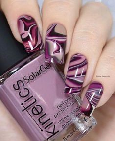 17 + Nail Polish Declares Its Kingdom In Fashion World., 17 + Nail Polish Declares Its Kingdom In Fashion World. - 1 By the time we approach nail polish is declaring its kingdom in the fashion world. Creative Nail Designs, Creative Nails, Nail Art Designs, Nails Design, Purple Nail Art, Purple Nail Designs, Stylish Nails, Trendy Nails, Fancy Nails