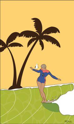 Hang five surf art