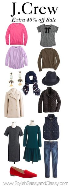 J.Crew Extra 40% Off Sale favorites is on Stylish Sassy and Classy featuring sweaters, jackets, vests and more!