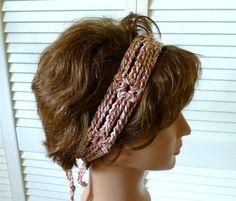 Nexus Headband in Natural Tones Tie Behind by Threadmill on Etsy, $14.00