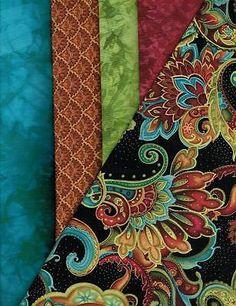 Hand Dyed Quilt Fabric BELLAGIO Yardage Set - 5 Yard Bundle FREE SHIPPING