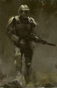 master chief fan art by Halo Game, Halo 3, Video Game Art, Video Games, Novus Ordo Seclorum, Odst Halo, Halo Armor, Halo Spartan, Halo Master Chief