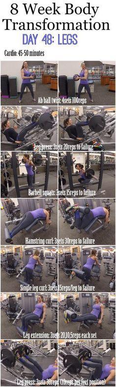 8 Week Body Transformation: Day 54 LEGS | Fitness Food Diva | Bloglovin'