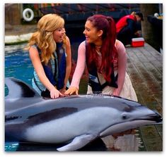 Ariana Grande and jennette mccurdy.
