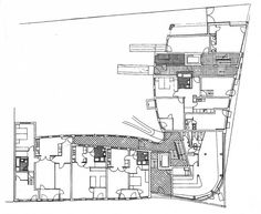 Image 7 of 9 from gallery of AD Classics: Wohnhaus Schlesisches Tor (Bonjour Tristesse) / Álvaro Siza Vieira + Peter Brinkert. Architecture Drawings, Architecture Plan, Amazing Architecture, Alvar Aalto, Composition Design, Social Housing, Facade, Berlin, Floor Plans