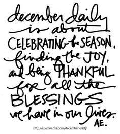 December Daily® 2014 | Let's Begin! at Ali Edwards