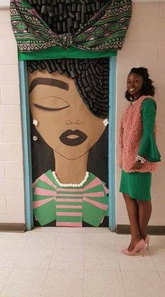 Check out this beautiful door display created by Ms Latoya Green in honor of Black History Month Black History Month, Black History Facts, Black Women Art, Black Art, Afro Art, My Black Is Beautiful, African American History, Women In History, African Art
