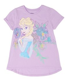 Loving this Lavender Elsa Hi-Low Tee - Kids on #zulily! #zulilyfinds