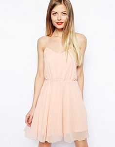 Image 1 of ASOS Chiffon Cami Skater Dress