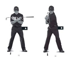 There are two likely reasons you don't turn your body enough on the backswing : (1) You're uncomfortable moving the top of your spine behind the ball, because you think you'll mis-hit the shot; (2) you're not flexible enough. But if you want to swing from inside the target line and generate more power, you should focus on making a turn at least 90 degrees behind the ball. Solution: match the shafts. Lay a club on the ground, inside your right foot and perpendicular to your target line. Take…