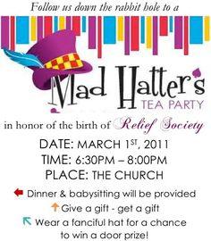 The Many Mini-Adventures of the Wards: Relief Society Birthday Celebration 2011
