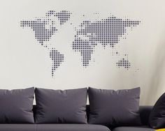 Giant world map wall decal map wall stencils abstract world map world map wall decal world wall decal world map world globe world gumiabroncs Image collections