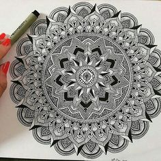 mandala by @monart.ist. Check out and follow this amazing artist! #mandala…