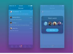 mobile Chat UI on Behance