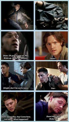 Sam taking care of Dean [gifset]