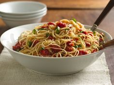Angel Hair with Tomato & Basil from Betty Crocker - YUM! Love this dish.
