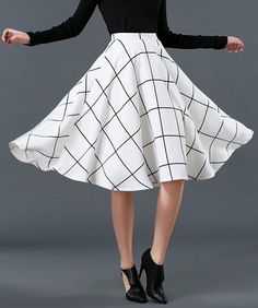 $14.07 Skirt in black and white.