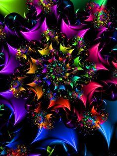 Fractals - By Unknown Art Fractal, Fractal Images, Fractal Design, Psy Art, World Of Color, Psychedelic Art, Wallpaper Backgrounds, Wallpapers, Iphone Wallpaper