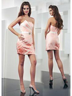Satin Sheer Scalloped Neckline Delicately Ruffled Bodice Short Special Occasion Dress