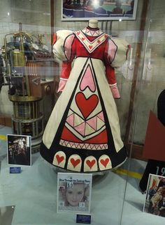 Hollywood Movie Costumes and Props: Bob Mackie designed Alice Through the Looking Glass dress on display... Original film costumes and props on display