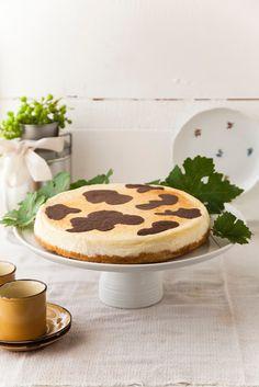 תיק אוכל: עוגת גבינה עם כתמי גנאש-Moo cheescake