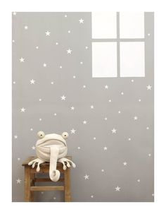 White stars wall stickers, wall decal #tayostudio