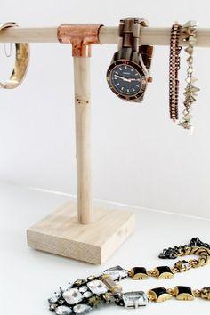 DIY Jewelry Holder for $10 | http://www.hammerandheelsblog.com/diy-jewelry-holder-10/