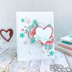 Flowers love stampin up ideas for 2019 Valentines Greetings, Valentine Crafts, Valentine Day Cards, Pretty Cards, Love Cards, Scrapbooking, Beautiful Handmade Cards, Flower Crafts, Greeting Cards Handmade