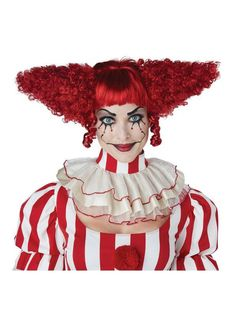 Check out Adult Creepy Red Clown Wig - Costume Accessories for 2018 | Wholesale Halloween Costumes from Wholesale Halloween Costumes