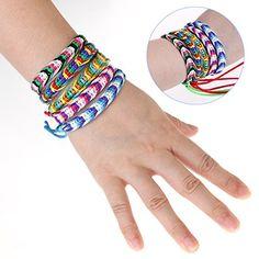 Foxnovo 9pcs Handmade Braided Friendship Bracelet Kit Wrist Ankle Bracelet Thread Friendship Bracelet Kit, Jewellery Uk, Jewelry, Ankle Bracelets, Cord, Braids, Bohemian, Handmade, Shopping